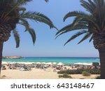 amazing view of golden beach... | Shutterstock . vector #643148467