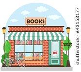 bookshop  bookstore  building... | Shutterstock .eps vector #643153177