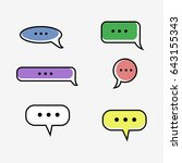 speech bubble colorful icons on ...