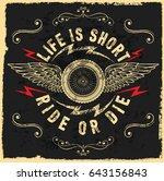 motorcycle label t shirt design ... | Shutterstock . vector #643156843