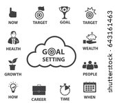 smart goal setting  business... | Shutterstock .eps vector #643161463
