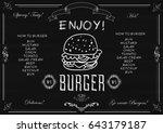 vector illustration of a burger ... | Shutterstock .eps vector #643179187