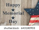happy memorial day greeting ... | Shutterstock . vector #643180903