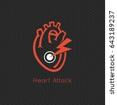 heart attack logo vector icon... | Shutterstock .eps vector #643189237