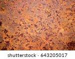 rust on steel | Shutterstock . vector #643205017