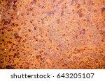 rust on steel | Shutterstock . vector #643205107