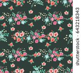 seamless cute pattern of small... | Shutterstock . vector #643218343