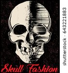 skull t shirt graphic design | Shutterstock . vector #643221883