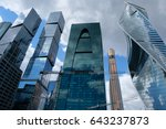 towers of moscow international... | Shutterstock . vector #643237873