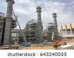 power plant construction | Shutterstock . vector #643240033