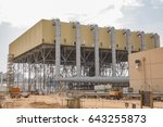 powe plant air cooled condenser ... | Shutterstock . vector #643255873