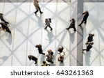 commuters walking. background... | Shutterstock . vector #643261363