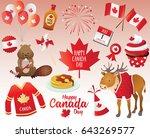 canada day design elements.... | Shutterstock .eps vector #643269577