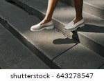 new white loafers | Shutterstock . vector #643278547