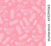 female hygiene items. seamless... | Shutterstock .eps vector #643294363
