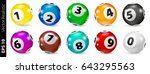 set of colored numbered balls... | Shutterstock .eps vector #643295563
