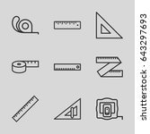 length icons set. set of 9... | Shutterstock .eps vector #643297693