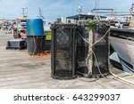 shrimp creels on the pontoon   Shutterstock . vector #643299037