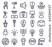 bulb icons set. set of 25 bulb... | Shutterstock .eps vector #643304437
