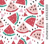 seamless pattern with fruits | Shutterstock .eps vector #643313203