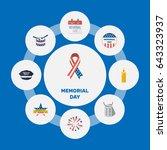 flat history  usa badge ... | Shutterstock .eps vector #643323937