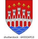 coat of arms of lot is a... | Shutterstock .eps vector #643326913