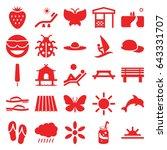 Summer Icons Set. Set Of 25...