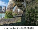 under the footbridge at low...   Shutterstock . vector #643338907