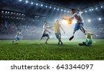 football hottest moments ....   Shutterstock . vector #643344097
