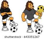 soccer futbol strong lion... | Shutterstock .eps vector #643351267