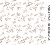 small floral pattern. seamless... | Shutterstock .eps vector #643354807