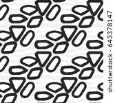 drawn black and white graphic... | Shutterstock .eps vector #643378147