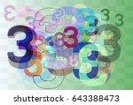 number 3 design vector | Shutterstock .eps vector #643388473
