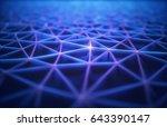 3d illustration. abstract... | Shutterstock . vector #643390147