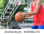 basketball bounce competition... | Shutterstock . vector #643406173