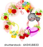 the frame that is made with... | Shutterstock .eps vector #643418833