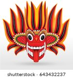 sri lankan traditional fire... | Shutterstock .eps vector #643432237