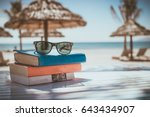 beach books sunglasses | Shutterstock . vector #643434907