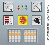electrical control panel and... | Shutterstock .eps vector #643453747