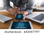 cyber security business ... | Shutterstock . vector #643457797