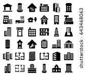 apartment icons set. set of 36... | Shutterstock .eps vector #643468063
