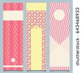 set of abstract banners with... | Shutterstock .eps vector #643468933