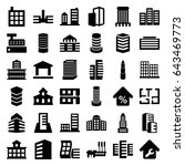 apartment icons set. set of 36... | Shutterstock .eps vector #643469773