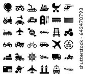 transport icons set. set of 36... | Shutterstock .eps vector #643470793