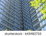 modern office building with... | Shutterstock . vector #643482733