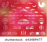 vector calligraphic elements... | Shutterstock .eps vector #643489477