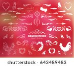 vector calligraphic elements... | Shutterstock .eps vector #643489483