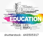 education word cloud collage ... | Shutterstock .eps vector #643505317