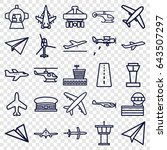 aircraft icons set. set of 25... | Shutterstock .eps vector #643507297