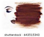 make up. beautiful woman face... | Shutterstock . vector #643515343